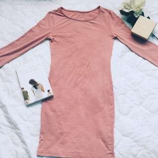 Pastel Pink long sleeve dress (Unbranded)