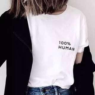 美國正貨💗 Evelane 100% Human Logo tee