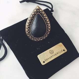 Samantha Wills Leather Bardot Ring