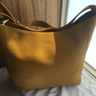 降價!FURLA 義大利輕奢華品牌 黃色肩背包
