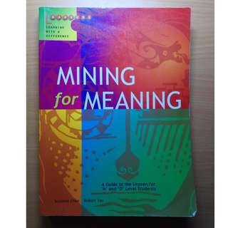 Literature Textbook - Mining for Meaning