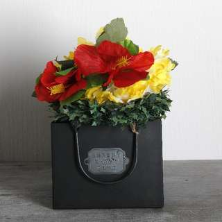 Zakka Zinc Shopping Bag Planter