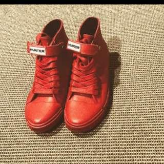 Hunter rain shoes/ rubber sneakers