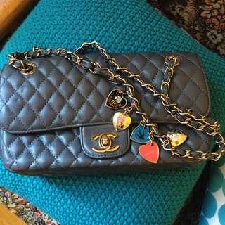 Chanel Valentine Mini Grey Bag