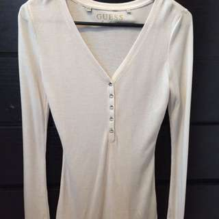 Women's guess shimmery top