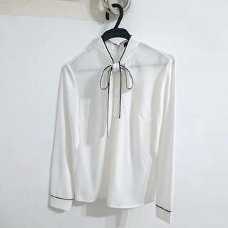 🚚 (全新降價) G2000氣質雪紡後拉鏈襯衫