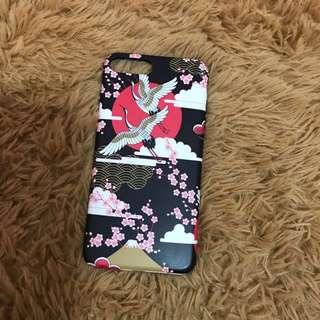 Iphone7+ 和風仙鶴手機殼 浮世繪