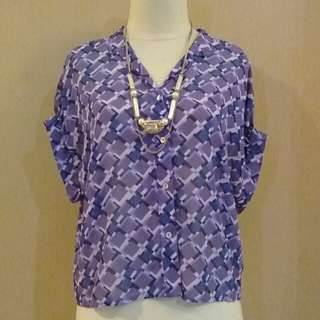 Blouse violet casual 😍😎