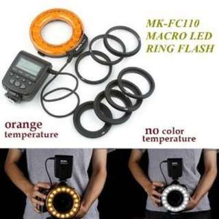 Meike FC-110 Macro LED Ring Flash And Light (for Camera Lens)