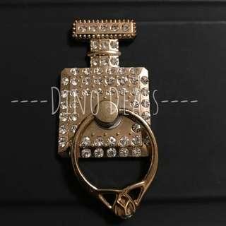 Gold Perfume Bottle Phone Ring Holder