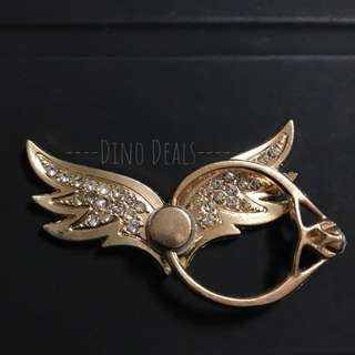 Gold Angel Wings Phone Ring Holder