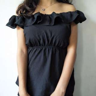 REPRICED!! Chiffon off-shoulder