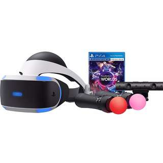 [Brand New] PS4 VR With 2 Move Controllers and VR World (Local version with 12 Months Warranty)