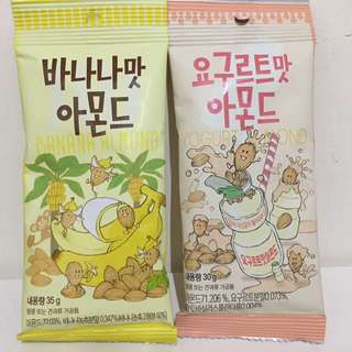 韓國香蕉杏仁堅果