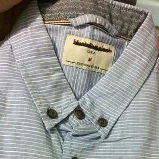 Hush Puppies bLue Strip Shirt