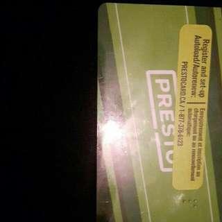 presto card of 200$ for 120$