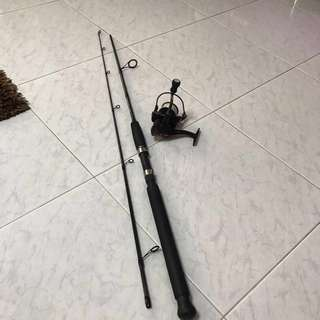 ‼️Spinning fishing rod with reel