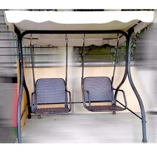 2seats Poly Brown Swing