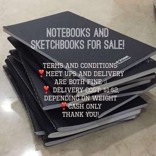 Notebooks And Sketchbooks For Sale!!