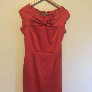 Jigsaw red formal dress
