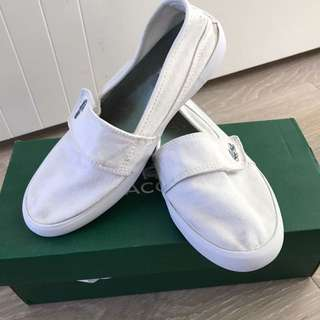 Girls White Lacoste Shoes
