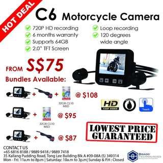 C6 Motorcycle Camera Bundles