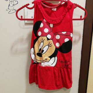 Little girl minnie mouse dress / top