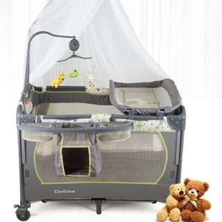 多功能BB網床(雙層、尿布台、遊戲床⋯)