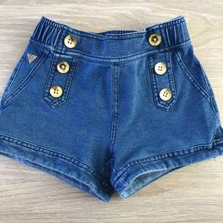 Girls Guess Denim Shorts