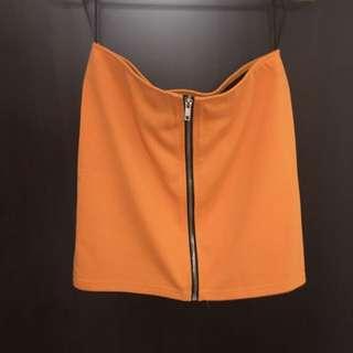 亮橘平口上衣 二手
