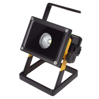 30W LED Flood Light Rechargeable Spotlight Camping Oudoor Emergency Use Working Light (Pure White)