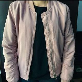 Millenial Pink Bomber Jacket