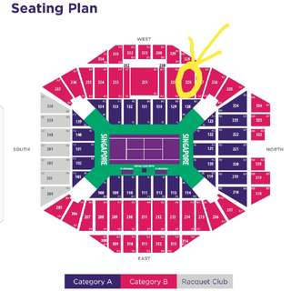 WTA Finals S'pore 1 Ticket for Wed 25 Oct 2017 Session 4