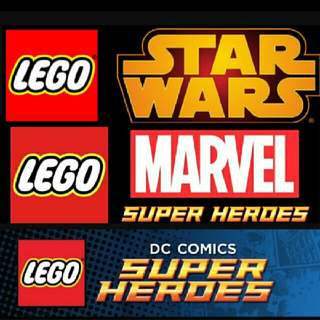 徵lego人仔 star war marvel dc