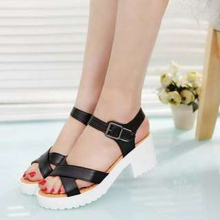 wedges docmart silang heels hitam