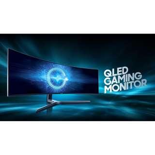 "Samsung C49HG90 49"" 1ms 3840x1080 VA FREESYNC 144Hz Gaming Quantum DOT HDR Widescreen Curved Monitor"