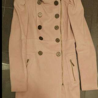 Bebe blush wool coat