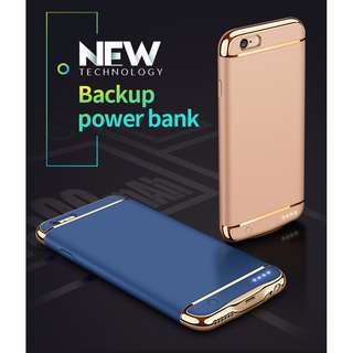Double Power iPhone Battery Case 最薄電池套 for iPhone 8, 8 Plus, 7, 7 plus, 6s, 6s Plus, 6, 6 Plus 2500mAh & 3500mAh 電池充電套 power bank case
