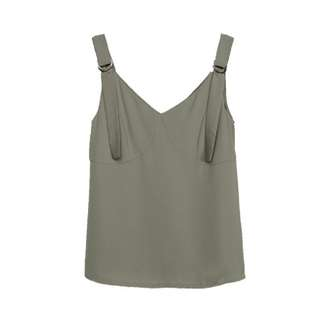 YHF Young Hungry Free Buckle Down Top in Olive