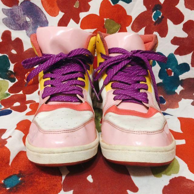 代售(39號)泡泡糖公主配色球鞋