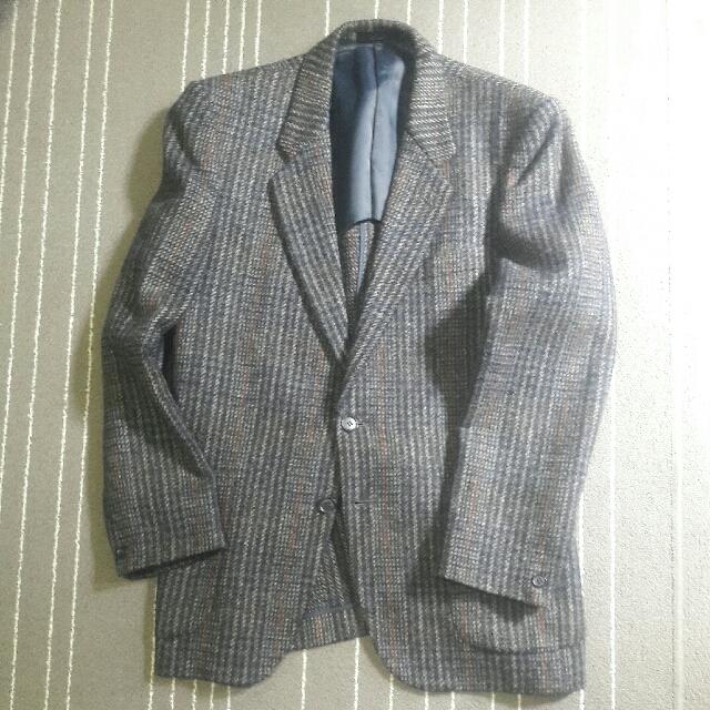 經典千鳥紋西裝外套#毛料