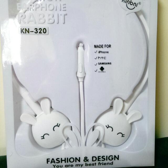 全新兔子造型耳機,有麥克風,含運