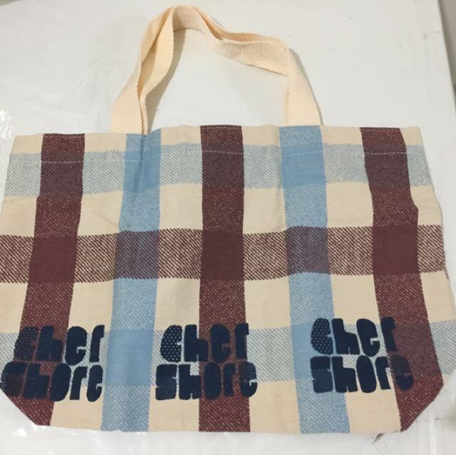 👛「郵局 免運」格子 萬用 布包