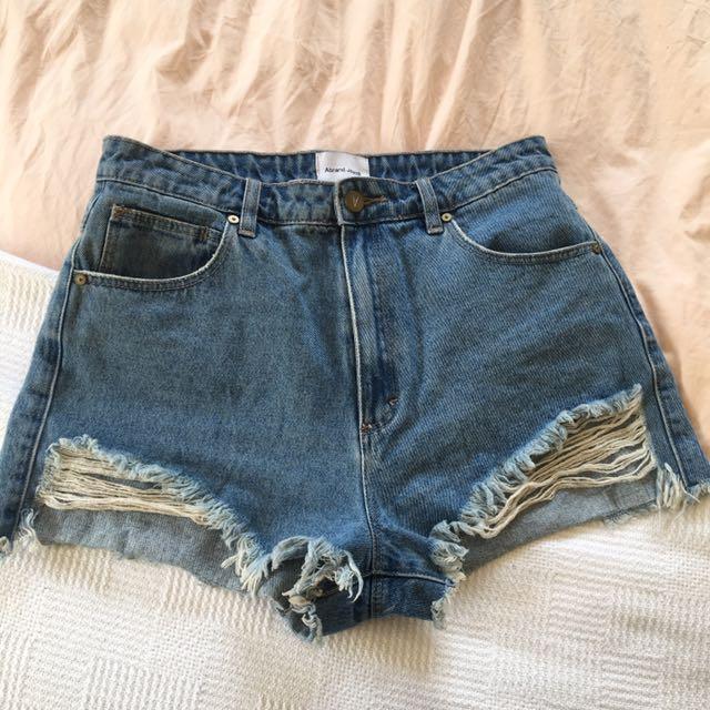 A Brand Denim Shorts