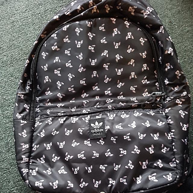 *FREE POST* Adidas X Rita Ora french bulldog backpack