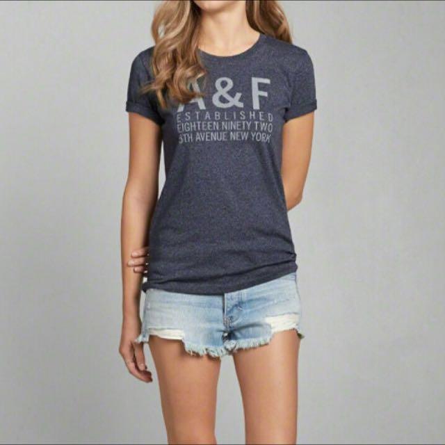 全新A&F Tshirt af 新款長版t