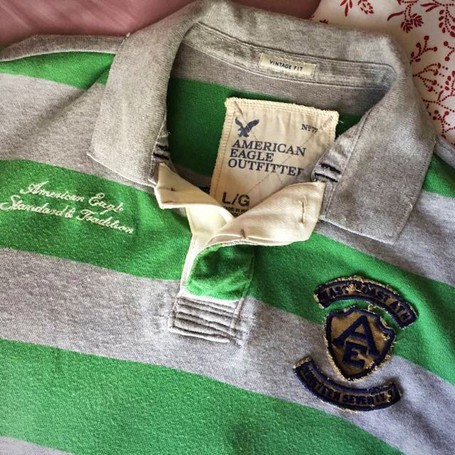 2bce50ec9de American Eagle Outfitters Men's 100% Cotton Striped Polo, Rugby ...