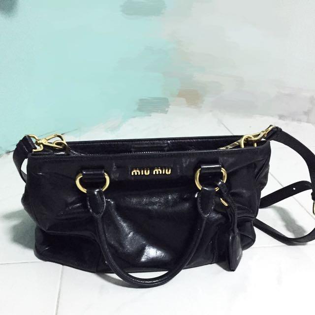 8eb170d8f096 Authentic Miu Miu Leather (non-reptile) Handbag