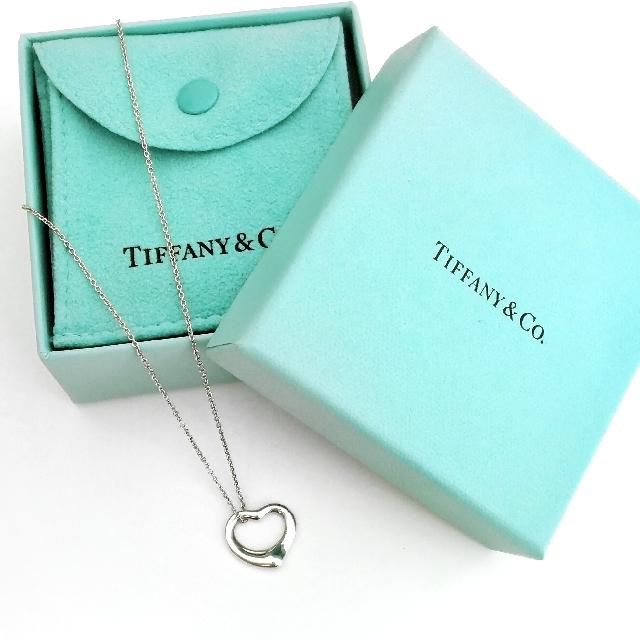 [Authentic] Tiffany & Co. Elsa Peretti Open Heart Pendant Necklace