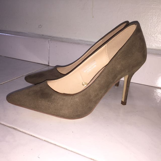 6b4052ea578 BN Olive Green Heels